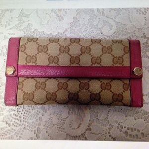 Authentic, Gucci, GG Mono Leather Long Wallet